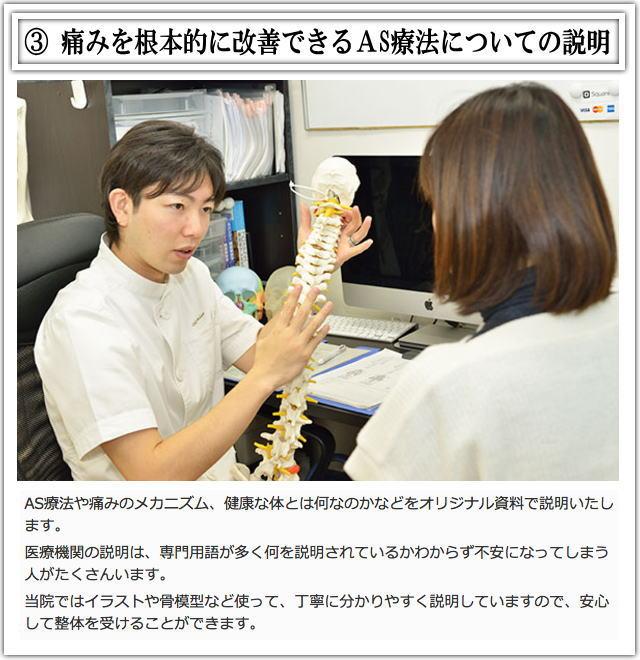 松戸市猫背矯正施術3